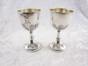 Antique Sterling Silver Goblets 2