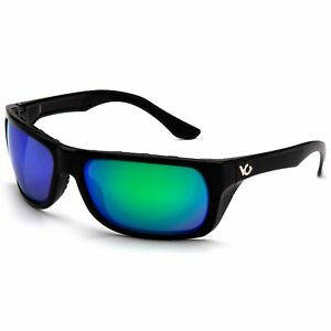 Venture Gear Vallejo Safety Glasses With Green Polarized Mirror Lens