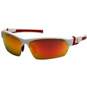 Venture Gear Tensaw Safety Glasses With Red Mirror Polarized Lens White Frame