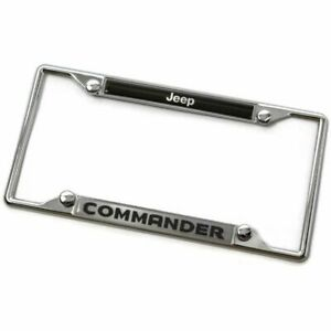 Jeep Commander Metal Chrome License Plate Frame