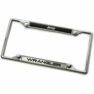 Jeep Wrangler Metal Chrome License Plate Frame
