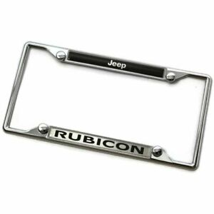 Jeep Rubicon Metal Chrome License Plate Frame