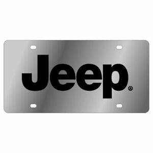 Stainless Steel Plate Jeep Black License Plate Frame 3d Novelty Tag