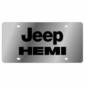 Stainless Steel Plate Jeep Hemi Black License Plate Frame 3d Novelty Tag