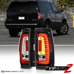 latest Design 2007 2014 Chevy Tahoe Gmc Yukon c shape Black Led Tail Lights