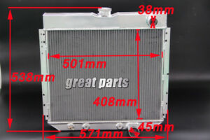 3 Row All Aluminum Radiator Fit 1967 1968 69 70 Ford Mustang