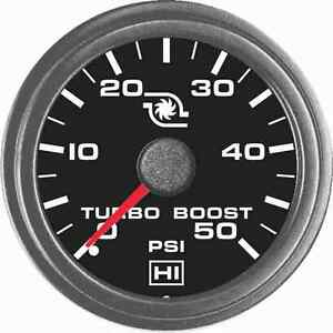 Hewitt 1021021r1hi Universal Turbo Boost Gauge 50 Psi