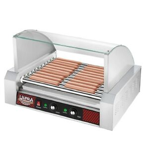 Great Northern Popcorn Commercial 30 Hot Dog 11 Roller Grilling Machine W cover