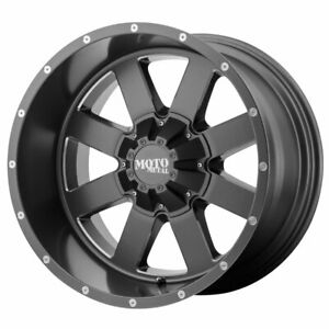 Moto Metal Mo962 Rim 18x12 8x180 Offset 44 Satin Gray Milled Accents Qty Of 4