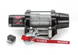 89040 Warn Vantage 4000 4 000 Lbs Winch With Long Wire Rope For Side X Sides