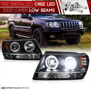 led Low Beam brightest Ccfl Halo 1999 2004 Jeep Grand Cherokee Led Headlight