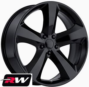 Dodge Charger Wheels 20 Inch 20x8 Challenger R T Replica Black Rims Fit Charger