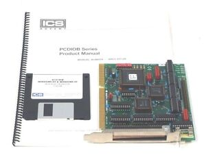 Used Industrial Computer Source Pcdio24b 48b p Interface Board W Driver Disk