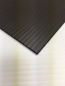10mm Black 24 In X 18 In 8 Pack Corrugated Plastic Coroplast Sheets Sign