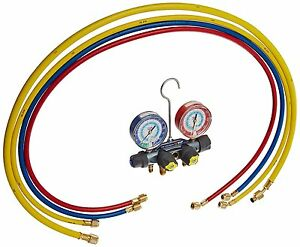 Yellow Jacket 49987 Titan 4 valve Test And Charging Manifold Degrees F Psi