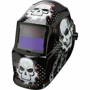 Lincoln Electric Variable shade Auto darkening Welding Helmet Skull Design
