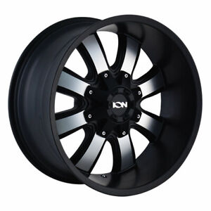 Ion Alloy 189 17x9 5x5 5x5 5 Offset 12 Satin Black Machined Face Qty Of 4