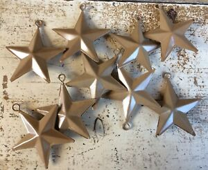 Set Of 12 Brown Barn Stars 2 Primitive Country Double Sided Farmhouse Decor