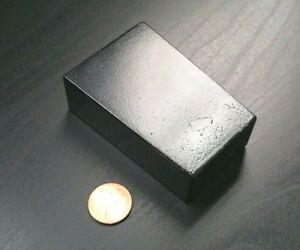 Huge Neodymium N52 Wedge Block Super Strong Rare Earth 3 X 2 X 1 Defects