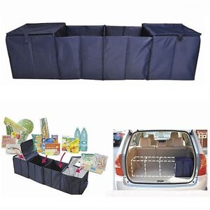 Collapsible Car Cargo Suv Organizer Trunk Storage Bag Folding W Warm Cooler Bag