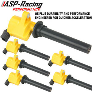 Pack Of 6 New Ignition Coil For Ford Escape Five Hundred Montego Sable Tribute E