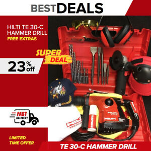 Hilti Te 30 c Hammer Drill Preowned Free Grinder Chisels Extras Quick Ship