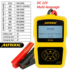 12v Vehicle Battery System Tester Autool Bt 360 Car Charging Test Analyzer Us