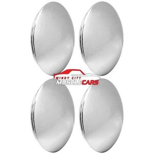 4 Piece Chrome Baby Moon 7 Rally Wheel Cap Set