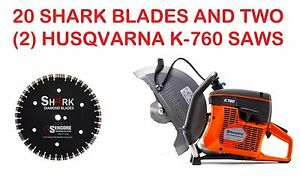 2 Husqvarna New K760 14 Concrete Saws 20pk 14 Shark Diamond Blades