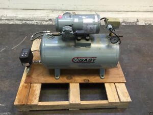 Gast Electric Vacuum Pump Air Compressor 12 Gallon 100 Psi 3hbb 11t m300x