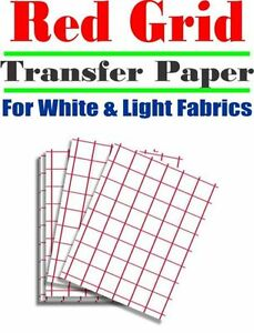 Heat Transfer Inkjet Paper Red Grid Iron On Light T Shirt 8 5 X 11 100 Pc
