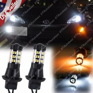 Set Switchback Led Kit Daytime Running Turn Signal For Camry Fr s Accord Civic