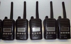 Lot 5 Icom F50v Vhf Portable Radio Tested 100 Narrowband Fire Pager Police