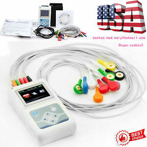 Portable 12 channel 24h Ecg Ekg Holter System Recorder Monitor Analyze Software