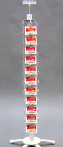 New 44 Clip Retail Counter Spinner Chip Snack Product Display Rack white