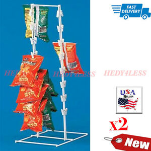 New Countertop Display Spring Clip Countertop Racks For Candy Chips Etc