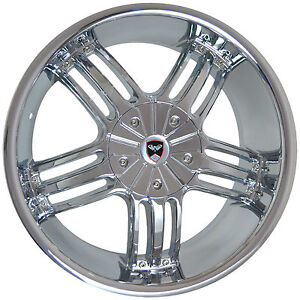 4 Gwg Wheels 20 Inch Chrome Spade Rims Fits Mitsubishi Lancer Evolution 2008