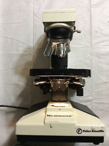 Professional Laboratory Fisher Micromaster 12 561b Microscope W 4 Objectives