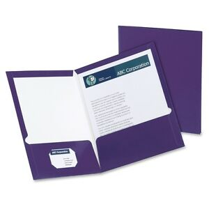 Oxford Laminated Twin Pocket Folders Letter 8 1 2 X 11 Sheet Size
