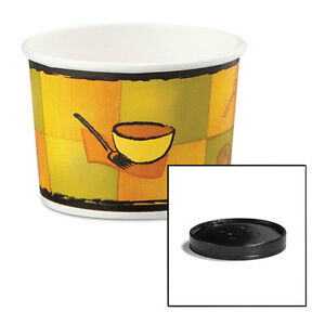 Soup Food Containers W vented Lids Streetside Pattern 12 Oz 250 carton