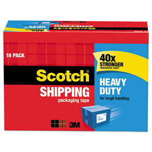 3850 Heavy duty Packaging Tape Cabinet Pack 1 88 X 54 6yds 3 Core 18 pack