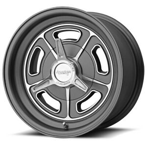 American Racing Vn502 Rim 15x5 5x4 75 Offset 12 Mag Gray Quantity Of 4