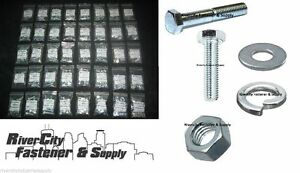Metric Coarse Thread Bolt Nut Washer Assortment Kit 490 Pieces Grade 10 9 8