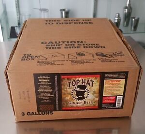 Top Hat Organic Ginger Beer Dispenser Syrup 3 Gal Soda Bib Bag In A Box