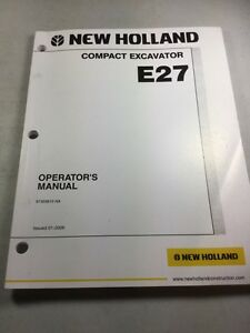 New Holland E27 Compact Excavator Operators Manual