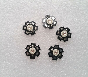 5pcs 5w Deep Red High Power 660 665nm Plant Grow Led Emitter With 20mm Star Base