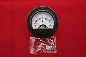 1pc Ac 0 20a Round Analog Ammeter Panel Amp Current Meter Dia 66 4mm Dh52