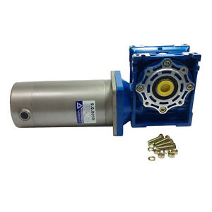 24v Dc Worm Boxing Geared Motor 200w With 040 Gear Head Ration Speed Optional