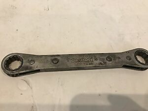 Vintage Snap On No 76 5 8 X 11 16 Reversible Ratcheting Box Wrench