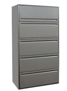 Haworth 5 Drawer Unit Filing Cabinet